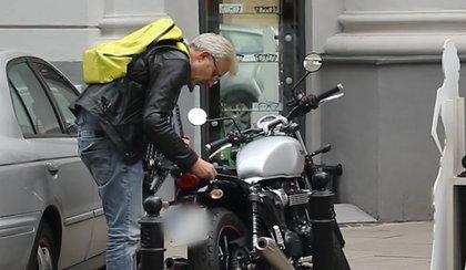 Tak Hubert Urbański walczył ze swoim motocyklem