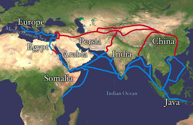 Mapa prvobitnog puta svile