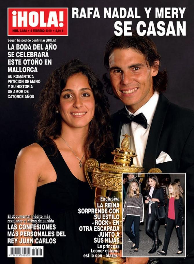 """Rafael Nadal i njegova buduća supruga na naslovnici """"Heloa"""""""