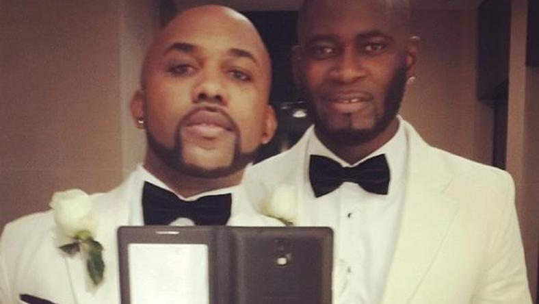 Banky W and Tee Billz at his wedding