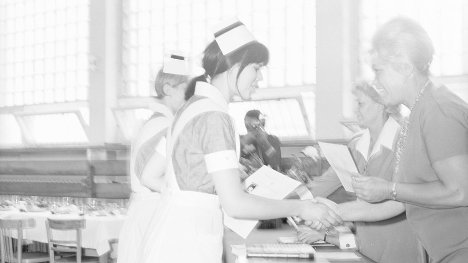 Matura w I Liceum Medycznym przy ul. Ciołka 27 w Warszawie ok. 1970
