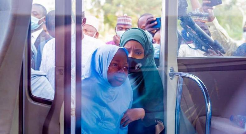 Schoolgirls abducted by bandits in Jangebe, Zamfara were returned to their families on Wednesday [Zamfara State Government]