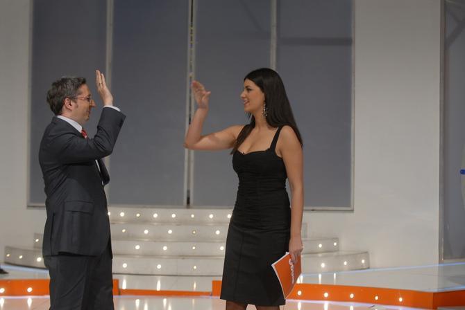 Marija Kilibarda Radmanović i Dejan Pantelić 2008. kao voditelji