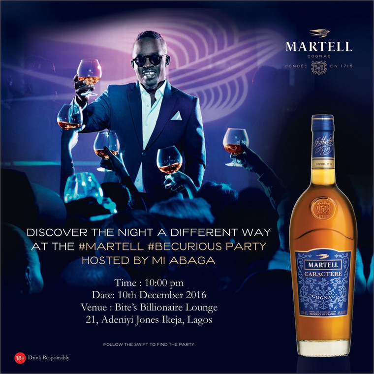 MI Abaga hosts Martell #BeCurious Party at Bite Billonaire's Lounge