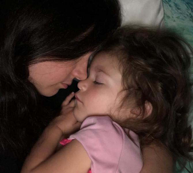 Meri Ketrin sa ćerkom