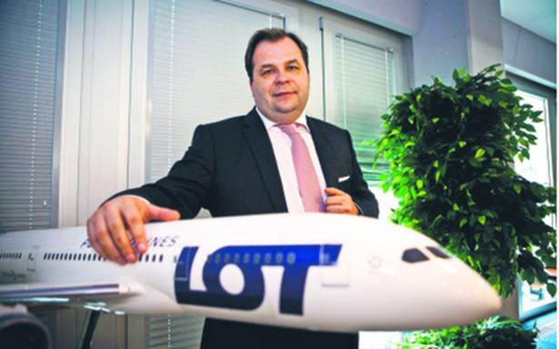 Sebastian Mikosz, prezes Polskich Linii Lotniczych LOT