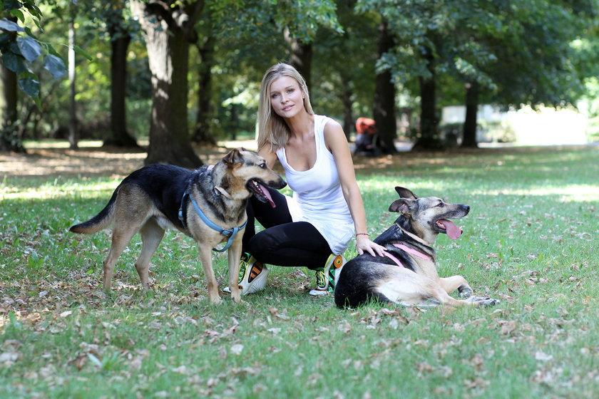 Joanna Krupa z psami