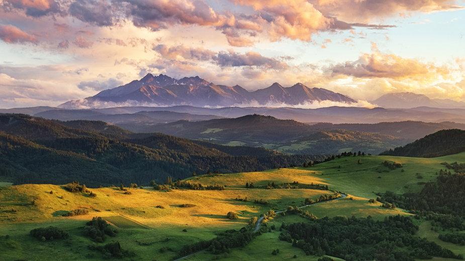Krajobraz górski Słowacji