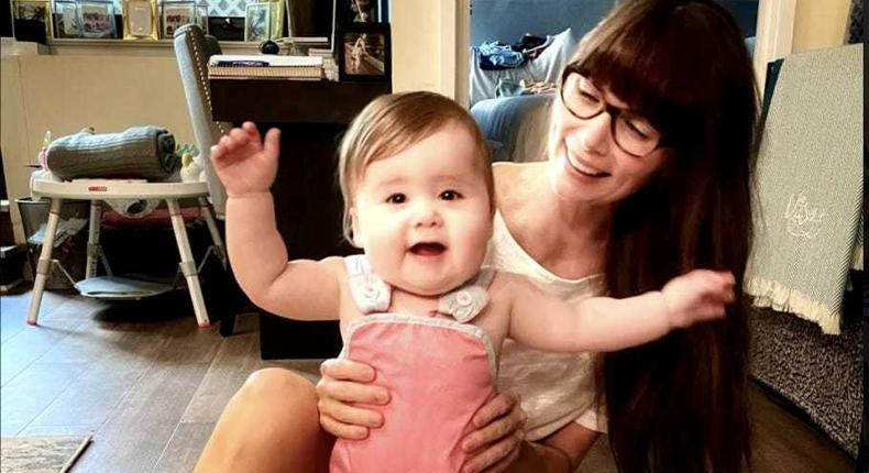Former art Caitlin Tolchin says she's struggled finding jobs that allow her to work from home to care for her daughter.