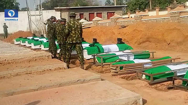 Nigerian soldiers buried in Kaduna State [Channels TV]