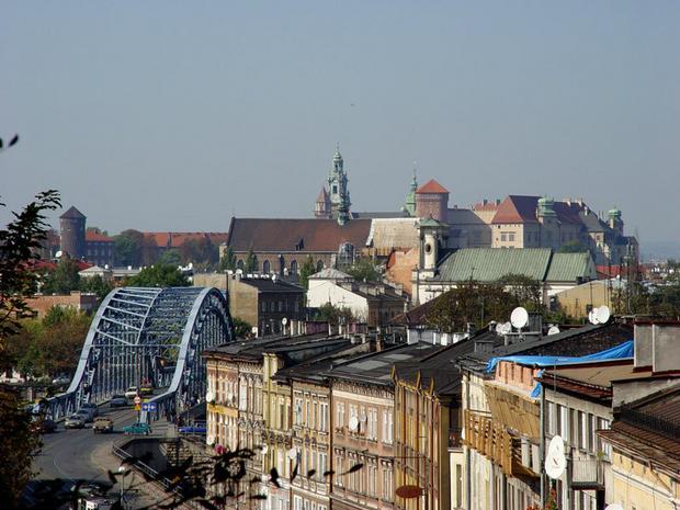 Kraków, widok na Wawel z Podgórza