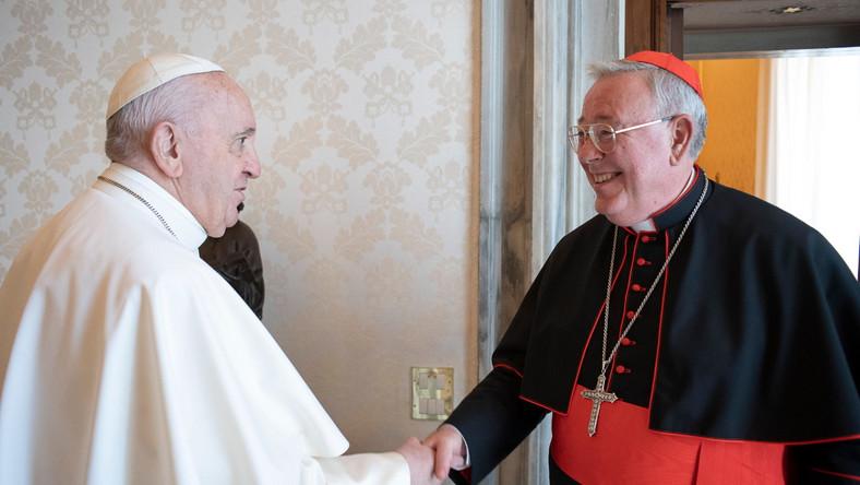 Kardynał Jean-Claude Hollerich na audiencji u papieża Franciszka
