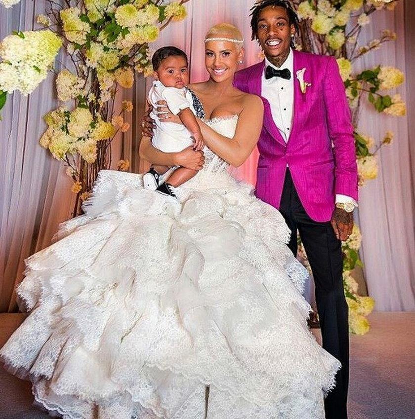 Amber Rose w sukni ślubnej