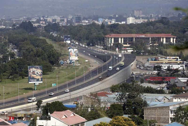 A view of Nakuru Town from Nakuru-Nairobi highway.