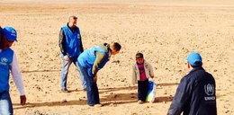 Szok! 4-latek sam szedł przez pustynię!