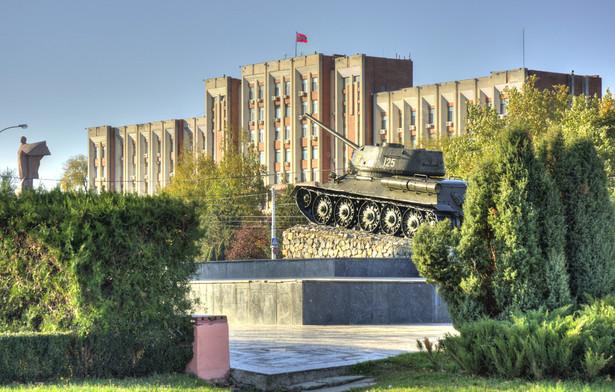 Siedziba lokalnego parlamentu w Tyraspolu - stolicy samozwańczej republiki Naddniestrza, położonej na terenie Mołdawii.