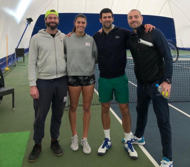 Novak Đoković sa Olgom Danilović
