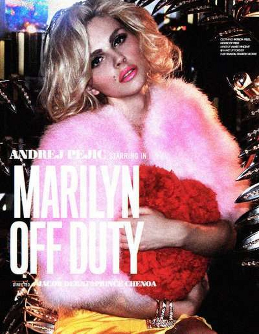 Andrej Pejic jako Marilyn Monroe