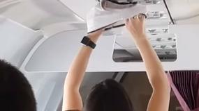 Pasażerka postanowiła wysuszyć bieliznę w samolocie