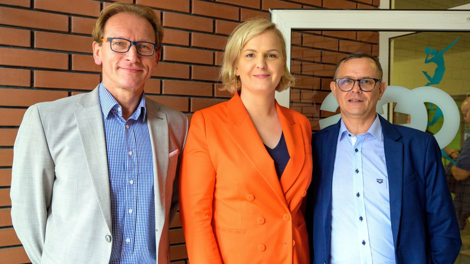 Jacek Śmigielski, Otylia Jędrzejczak i Paweł Słomiński