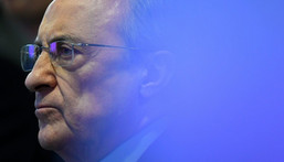 Real Madrid president Florentino Perez is the head of the Super League Creator: GABRIEL BOUYS