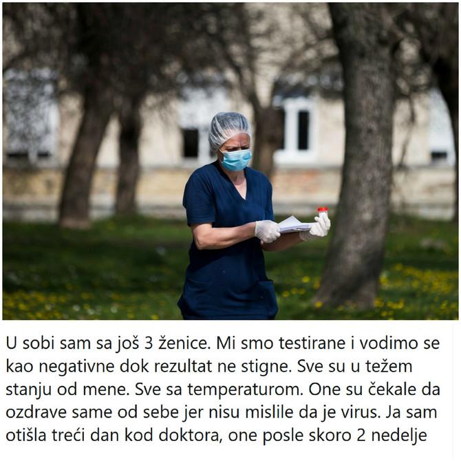 Ispovest inficirane Tviterašice iz Srbije