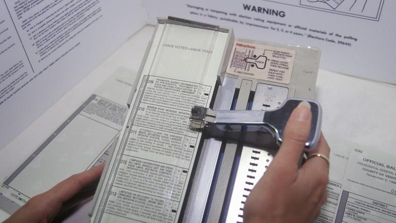Maszynka do głosowania w wyborach w USA