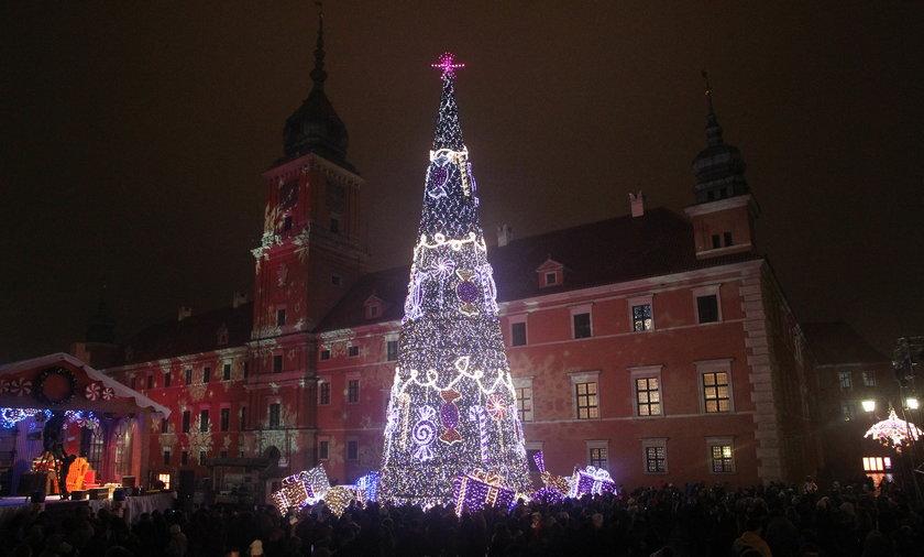 Inauguracja świątecznej iluminacji Warszawy