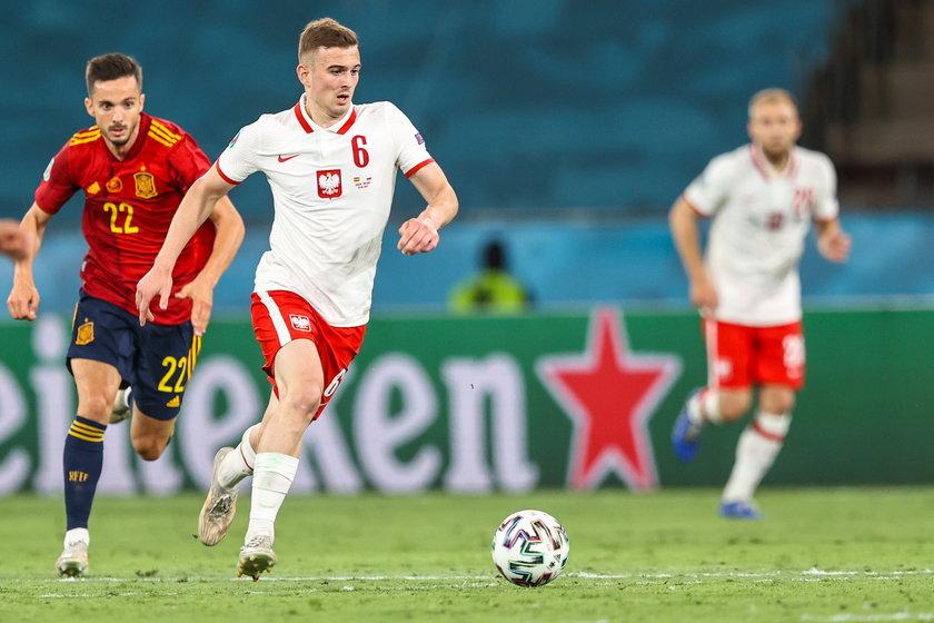 Reprezentant Polski w 55. minucie spotkania z Hiszpanią pojawił się na boisku w Sewilli.