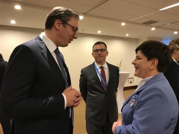 Vučić i premijerka Poljske Beata Šidlo