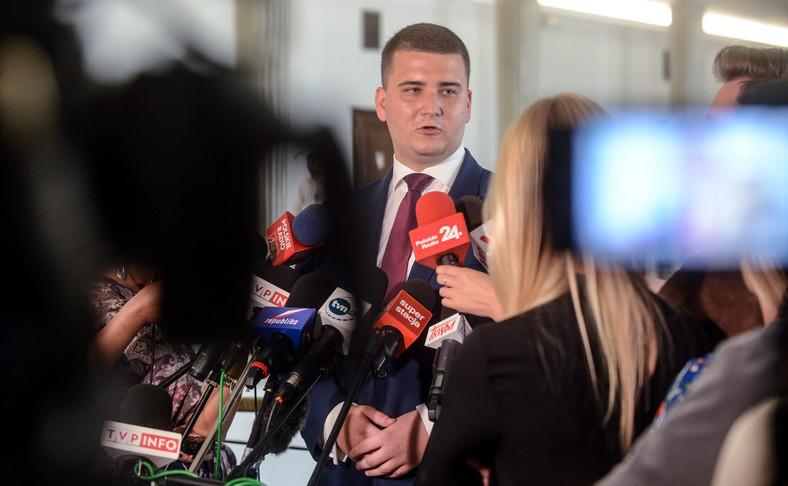 Rzecznik MON Bartłomiej Misiewicz