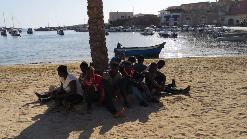 Uchodźcy na Lampedusie
