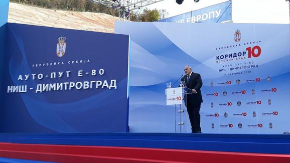 Bojko Borisov govori na ceremoniji otvaranja