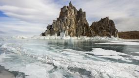 Niesamowite zamarzające fale na Bajkale