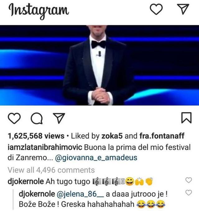 Zlatan Ibrahimović Novak Đoković