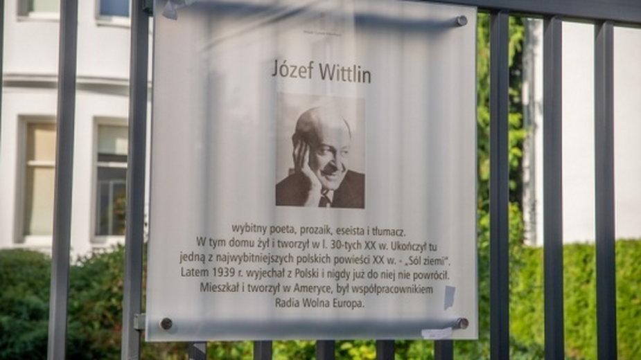 Odsłonięcie tablicy Józefa Wittlina