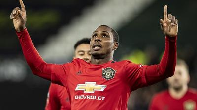Odion Ighalo gets Man of the Match award after scoring a brace in Manchester United's FA Cup win against Derby