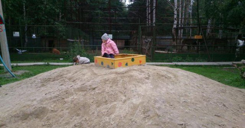 Ciekawe czy w piaskownicy jest piasek?