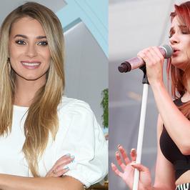 Natalia Szroeder czy Marcelina Zawadzka? Która lepiej wygląda w spodniach w paski?