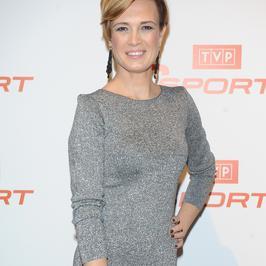 Paulina Chylewska i jej długie nogi na urodzinach TVP Sport