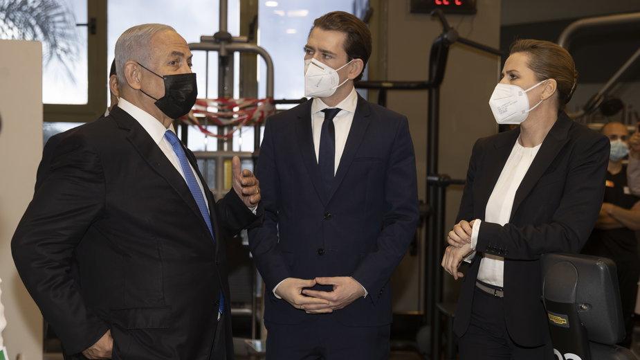 Benjamin Netanjahu, Sebastian Kurz i Mette Frederiksen