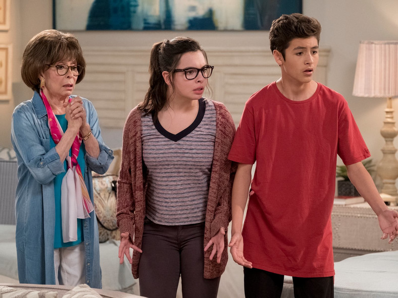 Rita Moreno, Isabella Gomez, Marcel Ruiz on One Day at a Time on Netflix Ali Goldstein