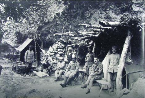 Negde na Solunskom frontu, godina i mesto nastanka fotografije nepoznato