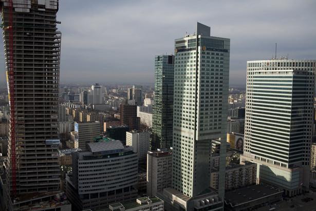 Centrum Warszawy - widok z PKiN