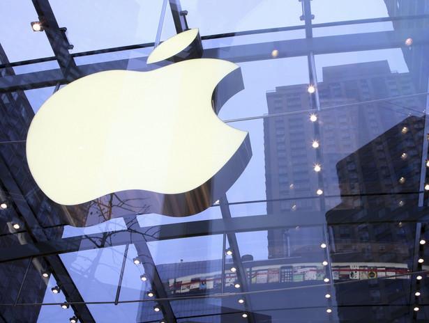 Logo Apple: w ciągu roku walory spółki podrożały o 43 proc., a w okresie ostatnich siedmiu lat aż 30-krotnie.