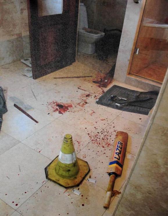 Arhivska fotografija iz kuće Oskara Pistorijusa neposredno posle ubistva
