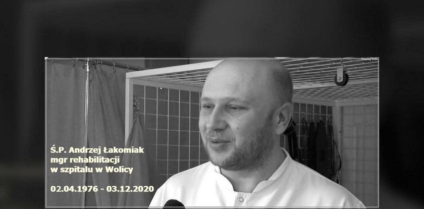 """Zmarł zakażony fizjoterapeuta z covidowego ośrodka w Wolicy. """"Cały szpital płacze"""""""