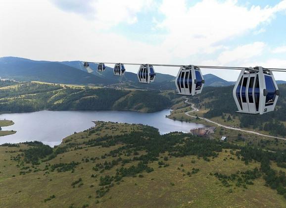 Gondola će 8.866 metara dugom trasom povezati centar Zlatibora i Tornik