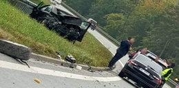 Wypadek na S7. Auta Służby Ochrony Państwa były tuż za samochodem, który wypadł z jezdni