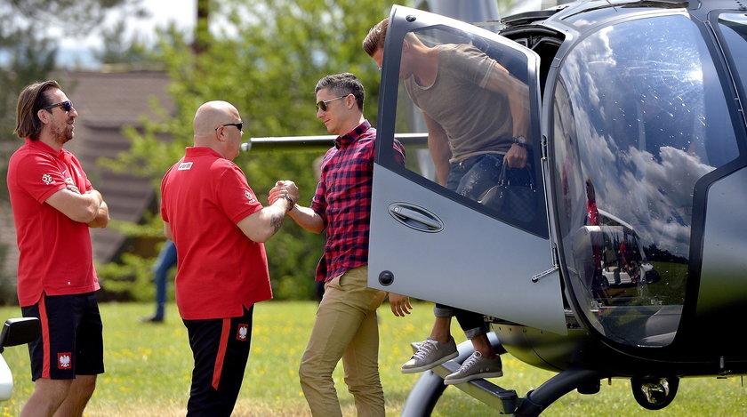 Robert Lewandowski helikopterem trafił na zgrupowanie w Arłamowie